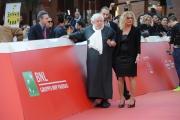 Foto/IPP/Gioia Botteghi 23/10/2015 Roma festa del cinema di roma,omaggio a Fantozzi red carpet, nella foto:  Paolo Villaggio con i figli Piero ed Elisabetta