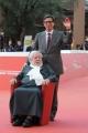 Foto/IPP/Gioia Botteghi 23/10/2015 Roma festa del cinema di roma,omaggio a Fantozzi red carpet, nella foto:  Paolo Villaggio con Antonio Monda