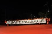 Foto/IPP/Gioia Botteghi 23/10/2015 Roma festa del cinema di roma, Flash mob di medici senza frontiere sul red carpet  con il presidente dell'associazione Loris de Filippi
