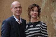Foto/IPP/Gioia Botteghi 26/10/2015 Roma presentazione della fiction di canale 5 I MISTERI DI LAURA, nella foto: Carlotta Natoli, Gian Marco Tognazzi,
