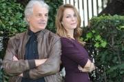 Foto/IPP/Gioia Botteghi 04/11/2015 Roma presentazione della fictionQuesto è il mio paese, nella foto: Violante Placido con Michele Placido