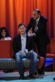 Foto/IPP/Gioia Botteghi 12/11/2015 Roma Francesco Totti ospite del Maurizio Costanzo Show, nella foto Bruno Vespa che massaggia le spalle del calciatore per invitarlo nella sua trasmissione