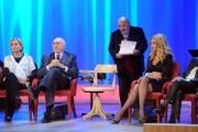 Foto/IPP/Gioia Botteghi 20/11/2015 Roma seconda puntata del Maurizio Costanzo Show, nella foto  Maurizio Costanzo, Valeria Marini con la mamma