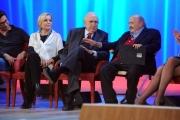 Foto/IPP/Gioia Botteghi 20/11/2015 Roma seconda puntata del Maurizio Costanzo Show, nella foto Catherine Spaak Pippo Baudo, Maurizio Costanzo