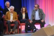 Foto/IPP/Gioia Botteghi 20/11/2015 Roma seconda puntata del Maurizio Costanzo Show, nella foto , Franco Oppini, Olivia e Giobbe Covatta