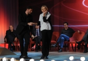 Foto/IPP/Gioia Botteghi 20/11/2015 Roma seconda puntata del Maurizio Costanzo Show, nella foto   Stefano Di Martino balla con Catherine Spaak