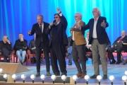 Foto/IPP/Gioia Botteghi 20/11/2015 Roma seconda puntata del Maurizio Costanzo Show, nella foto Umberto Smaila canta con Tedeschi, Predolin, Oppini