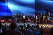 Foto/IPP/Gioia Botteghi 20/11/2015 Roma seconda puntata del Maurizio Costanzo Show tutti gli ospiti a cantare la Marsigliese