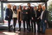 Foto/IPP/Gioia Botteghi 25/11/2015 Roma presentazione del film Babbo Natale non viene da Nord, nella foto: il cast