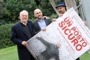 Foto/IPP/Gioia Botteghi 27/11/2015 Roma presentazione del film un posto sicuro, nella foto il regista Francesco Ghiaccio, con Marco D'Amore, Giorgio Colangeli