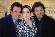 Foto/IPP/Gioia Botteghi 30/11/2015 Roma presentazione del film Il professor cenerentolo, nella foto: Leonardo Pieraccioni, Laura Chiatti,  Flavio Insinna