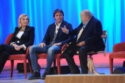 Foto/IPP/Gioia Botteghi 03/12/2015 Roma  puntata di Maurizio Costanzo Show, nella foto: Antonio Conte e Fatma Ruffini