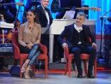 Foto/IPP/Gioia Botteghi 03/12/2015 Roma  puntata di Maurizio Costanzo Show, nella foto: Belen Rodriguez con il padre Gustavo