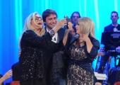 Foto/IPP/Gioia Botteghi 03/12/2015 Roma  puntata di Maurizio Costanzo Show, nella foto: Antonio Conte con Tina Cipollari e Mara Venier