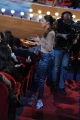 Foto/IPP/Gioia Botteghi 03/12/2015 Roma  puntata di Maurizio Costanzo Show, nella foto: Belen Rodriguez raccoglie tra il pubblico le offerte per i canili