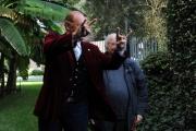 Foto/IPP/Gioia Botteghi 10/12/2015 Roma presentazione del programma rai, Renzo Arbore Day, nella foto Renzo Arbore con  Gianni Minà e le corna