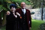 Foto/IPP/Gioia Botteghi 10/12/2015 Roma presentazione del programma rai, Renzo Arbore Day, nella foto Renzo Arbore con  Marisa Laurito
