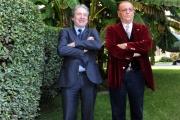 Foto/IPP/Gioia Botteghi 10/12/2015 Roma presentazione del programma rai, Renzo Arbore Day, nella foto  il direttore Generale della Rai Campo Dall'Orto con Arbore