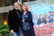 Foto/IPP/Gioia Botteghi 10/12/2015 Roma presentazione del film Vacanze ai caraibi, nella foto Angela Finocchiaro con Christian De Sica