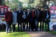 Foto/IPP/Gioia Botteghi 15/12/2015 Roma presentazione del film Natale col Boss, nella foto il regista Volfango de Biasi i produttori De Laurentis ed il cast