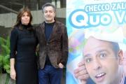 Foto/IPP/Gioia Botteghi 29/12/2015 Roma presentazione del film Quo Vado?, nella foto:  il produttore Pietro Valsecchi con la moglie Camilla Nesbitt