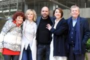 Foto/IPP/Gioia Botteghi 29/12/2015 Roma presentazione del film Quo Vado?, nella foto: Checco Zalone con Maurizio Micheli e Ludovica Modugno, Eleonora Giovanardi e Sonia Bergamasco