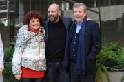 Foto/IPP/Gioia Botteghi 29/12/2015 Roma presentazione del film Quo Vado?, nella foto: Checco Zalone con Maurizio Micheli e Ludovica Modugno
