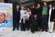 Foto/IPP/Gioia Botteghi 29/12/2015 Roma presentazione del film Quo Vado?, nella foto: Checco Zalone con cast e produzione