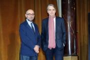 Foto/IPP/Gioia Botteghi 11/01/2016 Roma presentazione del film LA CORRISPONDENZA, nella foto: Giuseppe Tornatore, Jeremy Irons