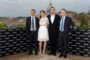 Foto/IPP/Gioia Botteghi 03/02/2016 Roma presentazione del film  Risen_Risorto, nella foto :   Joseph Fiennes, Maria Botto, i produttori Mickey Liddell e Pete Shilaimon