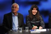 Foto/IPP/Gioia Botteghi 28/02/2016 Roma Lucia Annunziata a IN MEZZ'ORA,presenta i sei candidati alle primarie del PD, nalle foto: Chiara Ferraro ( con il papà)