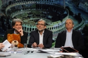 Foto/IPP/Gioia Botteghi 28/02/2016 Roma Lucia Annunziata a IN MEZZ'ORA,presenta i sei candidati alle primarie del PD, nalle foto:  Giachetti, Pedica, Mascia