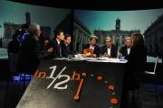 Foto/IPP/Gioia Botteghi 28/02/2016 Roma Lucia Annunziata a IN MEZZ'ORA,presenta i sei candidati alle primarie del PD, nalle foto: Chiara Ferraro ( con il papà), Morassut, Rossi, Giachetti, Pedica, Mascia