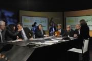 Foto/IPP/Gioia Botteghi 28/02/2016 Roma Lucia Annunziata a IN MEZZ'ORA,presenta i sei candidati alle primarie del PD, nalle foto: Chiara Ferraro, Morassut, Rossi, Giachetti, Pedica, Mascia