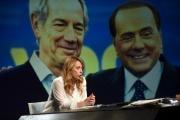 Foto/IPP/Gioia Botteghi 20/03/2016 Giorgia Meloni ospite di in mezz'ora di Lucia Annunziata