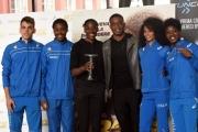 Foto/IPP/Gioia Botteghi 21/03/2016 presentazione al coni del film RACE, testimonial  FIONA MAY, l'attore protagonista STEPHAN JAMES e quattro giovani atleti italiani