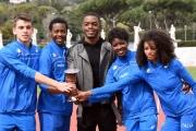 Foto/IPP/Gioia Botteghi 21/03/2016 presentazione al coni del film RACE,  l'attore protagonista STEPHAN JAMES e quattro giovani atleti italiani