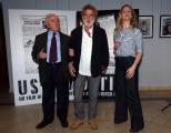 Foto/IPP/Gioia Botteghi 24/03/2016 presentazione del film  Ustica, nella foto Il  giudice Rosario Priore ed il regista del film Renzo Martinelli e Federica Martinelli