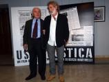 Foto/IPP/Gioia Botteghi 24/03/2016 presentazione del film  Ustica, nella foto Il  giudice Rosario Priore ed il regista del film Renzo Martinelli