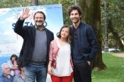 Foto/IPP/Gioia Botteghi 29/03/2016 presentazione del film COME SALTANO I PESCI nella foto: il regista Alessandro Valori, Simone Riccioni , Maria Paola Rosini