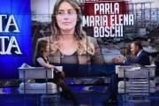 Foto/IPP/Gioia Botteghi 05/04/2016 Roma Maria Elena Boschi ospite di Porta a porta