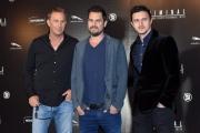 Foto/IPP/Gioia Botteghi 08/04/2016 Roma presentazione del film CRIMINAL, nella foto: Emil Dragos Savulescu, il regista ARIEL VROMEN e il protagonista KEVIN COSTNER