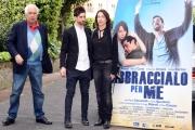 Foto/IPP/Gioia Botteghi 13/04/2016 Roma presentazione del film Abbraccialo per me, nella foto Moisé Curía e Stefania Rocca ed il regista Vittorio Sindoni