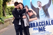 Foto/IPP/Gioia Botteghi 13/04/2016 Roma presentazione del film Abbraccialo per me, nella foto Moisé Curía e Stefania Rocca