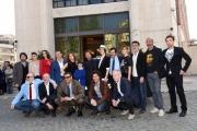 Foto/IPP/Gioia Botteghi 14/04/2016 Roma presentazione dela fiction di rai uno, IL SISTEMA, nella foto:  cast davanti alla caserma della guardia di finanza