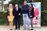 Foto/IPP/Gioia Botteghi 26/04/2016 Roma presentazione del film LA COPPIA DEI CAMPIONI, nella foto: Loredana De Nardis, Flora Canto, Massimo Boldi e Max Tortora
