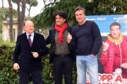 Foto/IPP/Gioia Botteghi 26/04/2016 Roma presentazione del film LA COPPIA DEI CAMPIONI, nella foto: il regista Giulio Base con Massimo Boldi e Max Tortora