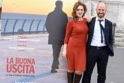 Foto/IPP/Gioia Botteghi 02/05/2016 Roma presentazione del film LA BUONA USCITA, nella foto:   MARCO CAVALLI  GEA MARTIRE