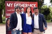 Foto/IPP/Gioia Botteghi 13/05/2016 Roma Presentazione del film MY FATHER JACK, nella foto:   FRANCESCO PANNOFINO, ELISABETTA GREGORACI  TONINO ZANGARDI
