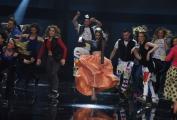Foto/IPP/Gioia Botteghi 13/05/2016 Roma puntata finale di Italian_s got talent, sky, nella foto: Lodovica Covello e tutti i finalisti